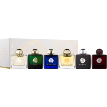 Amouage Miniatures Bottles Collection Women set cadou V. Lyric, Epic, Memoir, Jubilation 25, Interlude, Beloved Eau de Parfum 6 x 7,5 ml