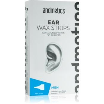 andmetics Wax Strips benzi depilatoare cu ceară, pentru urechi