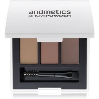 andmetics Brows pudra pentru sprancene