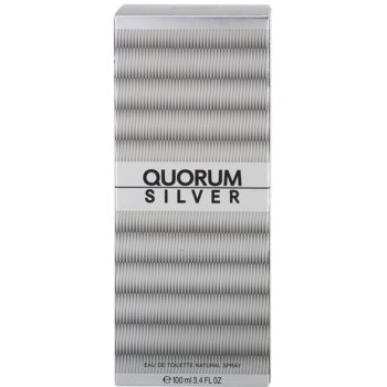 Antonio Puig Quorum Silver Eau de Toilette para homens 4