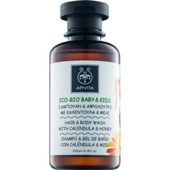 Apivita Eco-Bio Baby & Kids dětský mycí gel a šampon pro každodenní použití 200 ml