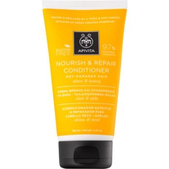 apivita holistic hair care olive & honey balsam hranitor pentru par uscat si sensibil