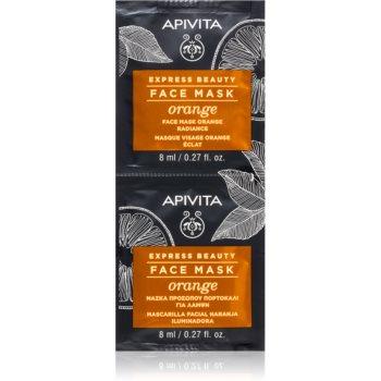 Apivita Express Beauty Orange masca pentru albirea tenului imagine produs