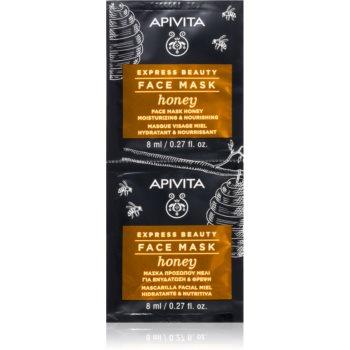 Apivita Express Beauty Honey masca hranitoare facial imagine produs