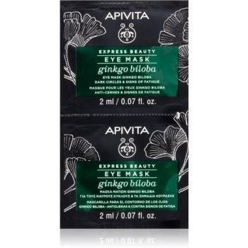 Apivita Express Beauty Ginkgo Biloba masca pentru ochi împotriva ridurilor ?i a cearcãnelor întunecate imagine produs
