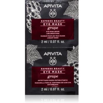 Apivita Express Beauty Grape masca pentru ochi cu efect de netezire imagine produs