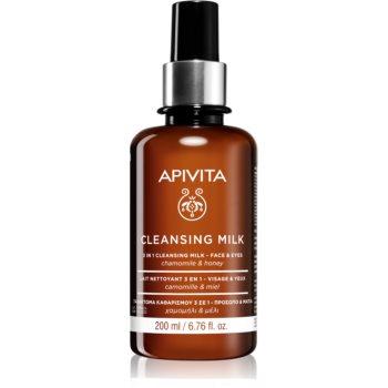 Apivita Cleansing Chamomile & Honey Lapte demachiant 3 în 1 pentru fa?ã ?i ochi imagine produs