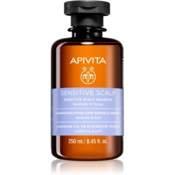 Apivita Holistic Hair Care Lavender & Honey Șampon pentru scalp sensibil și iritat cu lavanda poza noua