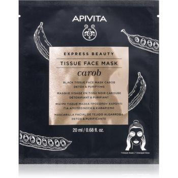 Apivita Express Beauty Carob mascã compresã hidratantã cu efect de hidratare imagine produs