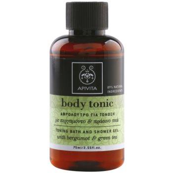 Apivita Body Tonic Bergamot & Green Tea sprchový a kúpeľový gél