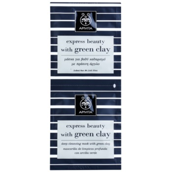 Apivita Express Beauty Green Clay masca pentru curatare profunda