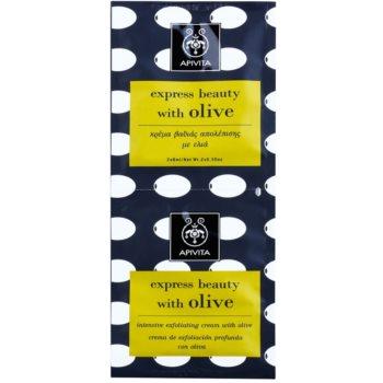 Apivita Express Beauty Olive peeling curatare profunda fata  2 x 8 ml