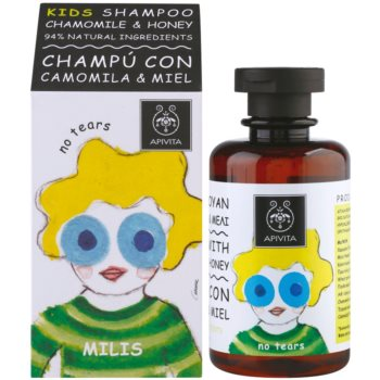 Apivita Kids Chamomile & Honey заспокоюючий шампунь для дітей 1