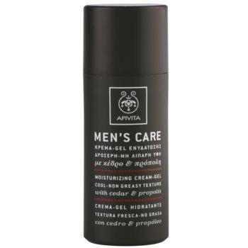 Apivita Mens Care Cedar & Propolis gel crema cu efect de hidratare