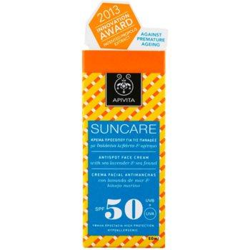 Apivita Sun Care Sea Lavender & Sea Fennel creme solar contra manchas de pigmentação SPF 50 2