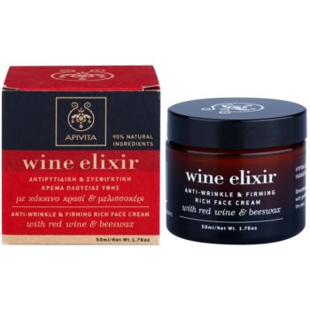 Apivita Wine Elixir Red Wine & Beeswax crema fermitate anti-rid ten uscat 1