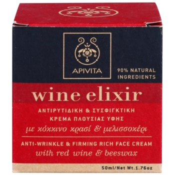 Apivita Wine Elixir Red Wine & Beeswax crema fermitate anti-rid ten uscat 2