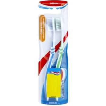 Aquafresh Clean & Flex periuta de dinti Medium 2 pc blue, green
