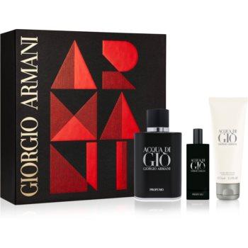 Armani Acqua di Giò Profumo set cadou II.  Eau de Parfum 75 ml + Eau de Parfum 15 ml + After Shave Balsam 75 ml