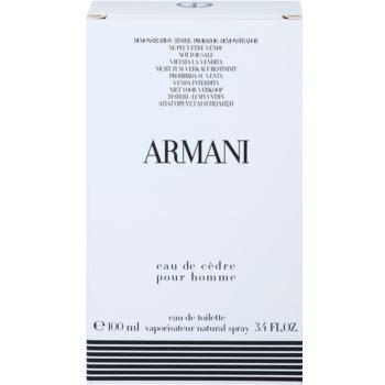 Armani Eau de Cedre туалетна вода тестер для чоловіків 2
