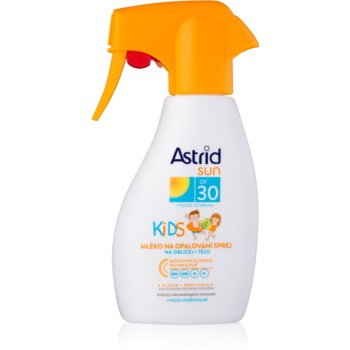 astrid sun kids lotiune de plaja spray pentru copii spf30