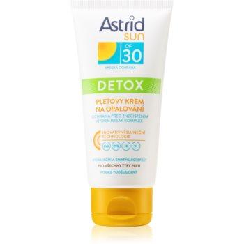 Astrid Sun Gesichtscreme zum Bräunen mit entschlackendem Effekt SPF 30 50 ml