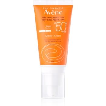 Avène Sun Sensitive Crema protectoare pentru pielea uscată și sensibilă SPF 50+