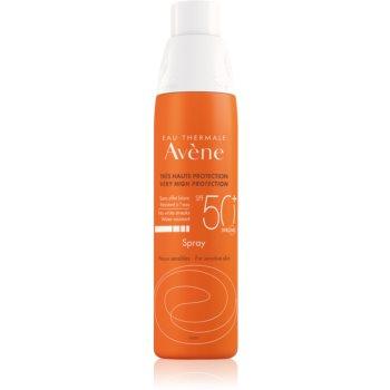 Avène Sun Sensitive spray protector pentru plajă SPF 50+