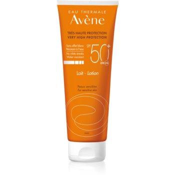 Avène Sun Sensitive ochranné mléko pro citlivou pokožku SPF 50+ 250 ml