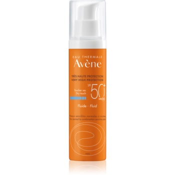 Avène Sun Sensitive fluid protector pentru piele normală spre mixtă SPF 50+  50 ml