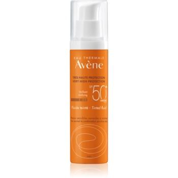 Avène Sun Sensitive lichid protector nuanțator, pentru piele normală spre mixtă SPF 50+  50 ml