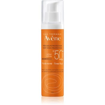 Avène Sun Sensitive lichid protector nuanțator, pentru piele normală spre mixtă SPF 50+