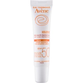 Avène Sun Minéral cremă protectoare pentru zonele sensibile, fără chimicale și parfum SPF 50+