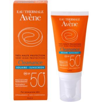 Avene Cleanance Solaire lotiune protectoare pentru protectia solara pentru ten predispus la acnee SPF 50+ 1