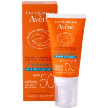 Avene Cleanance Solaire lotiune protectoare pentru protectia solara pentru ten predispus la acnee SPF 50+ 2