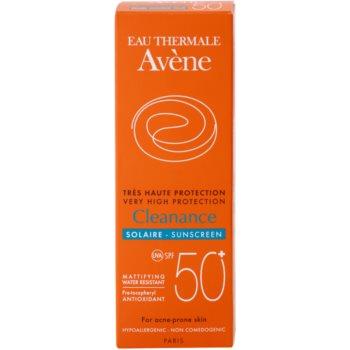 Avene Cleanance Solaire lotiune protectoare pentru protectia solara pentru ten predispus la acnee SPF 50+ 3