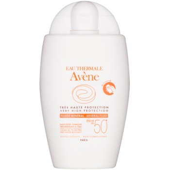 Image of Avène Sun Mineral Sunscreen Fluid without Chemical Filters SPF 50+ 40 ml