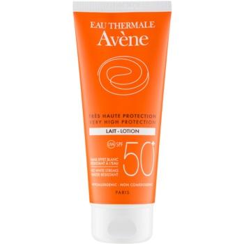 Avène Sun Sensitive lotiune pentru bronzat SPF 50+