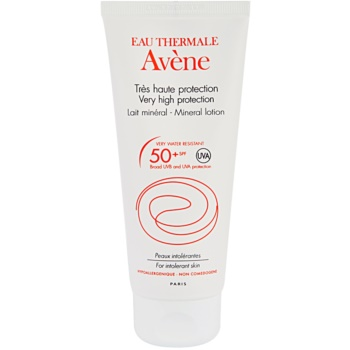 Avène Sun Mineral Lapte de protecție fără chimicale și parfum SPF 50+