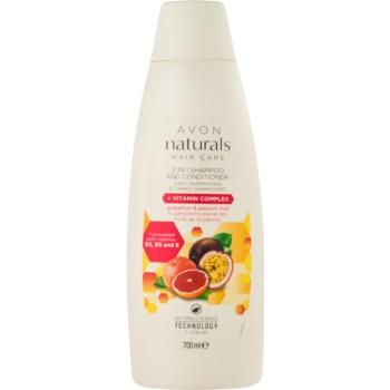 Avon Naturals Hair Care sampon si balsam 2 in 1 imagine produs