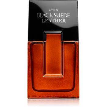 Avon Black Suede Leather Eau de Toilette pentru bărbați