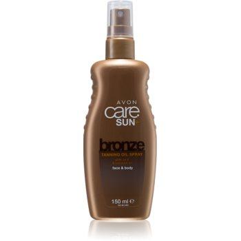 Avon Care Sun + Bronze ulei spray pentru bronzare corp si fata poza