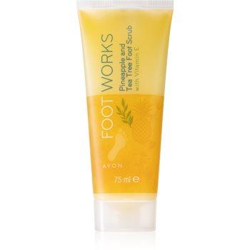 Avon Foot Works Pineapple and Tea Tree Softening de îngrijire pentru pielea crăpată a picioarelor cu vitamina E poza noua