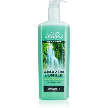 Avon Senses Amazon Jungle gel de dus pentru corp si par pentru barbati poza