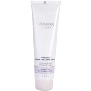 Avon Anew Clean gel de curatare calmant si masca crema pentru piele normala si uscata