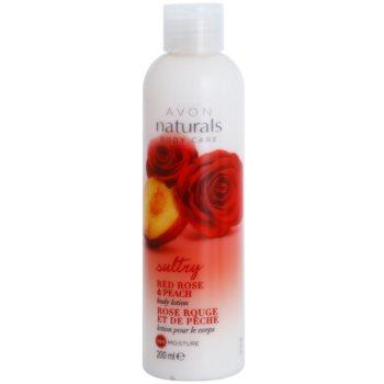 Avon Naturals Body lotiune de corp hidratanta cu trandafiri rosii si piersici
