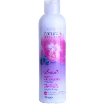 Avon Naturals Body lapte de corp cu orhidee si afine poza