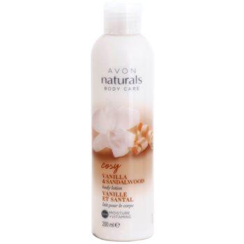 Avon Naturals Body lapte de corp cu vanilie si lemn de santal  200 ml