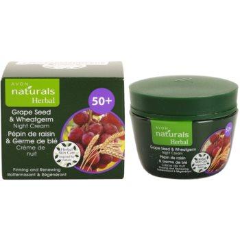 Avon Naturals Herbal ujędrniająco-regenerujący krem na noc z wyciągami z olejku z pestek winogron i kiełków pszenicy 2