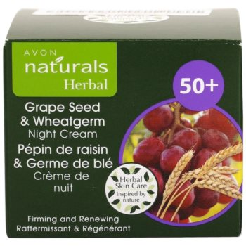 Avon Naturals Herbal ujędrniająco-regenerujący krem na noc z wyciągami z olejku z pestek winogron i kiełków pszenicy 4